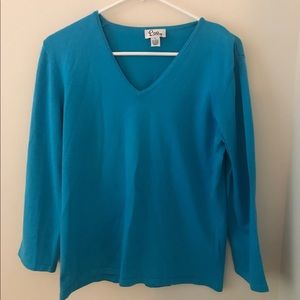 Lilly Pulitzer Blue Sweater V-neck Size Large